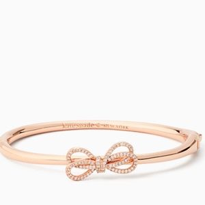 NWT~KATE SPADE~Bow Meets Girl RoseGold Bangle
